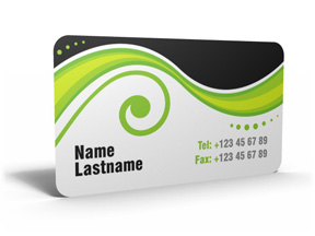 PVC Bibs - Rounded corner business card template